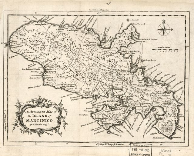 An accurate map of the island of Martinico /