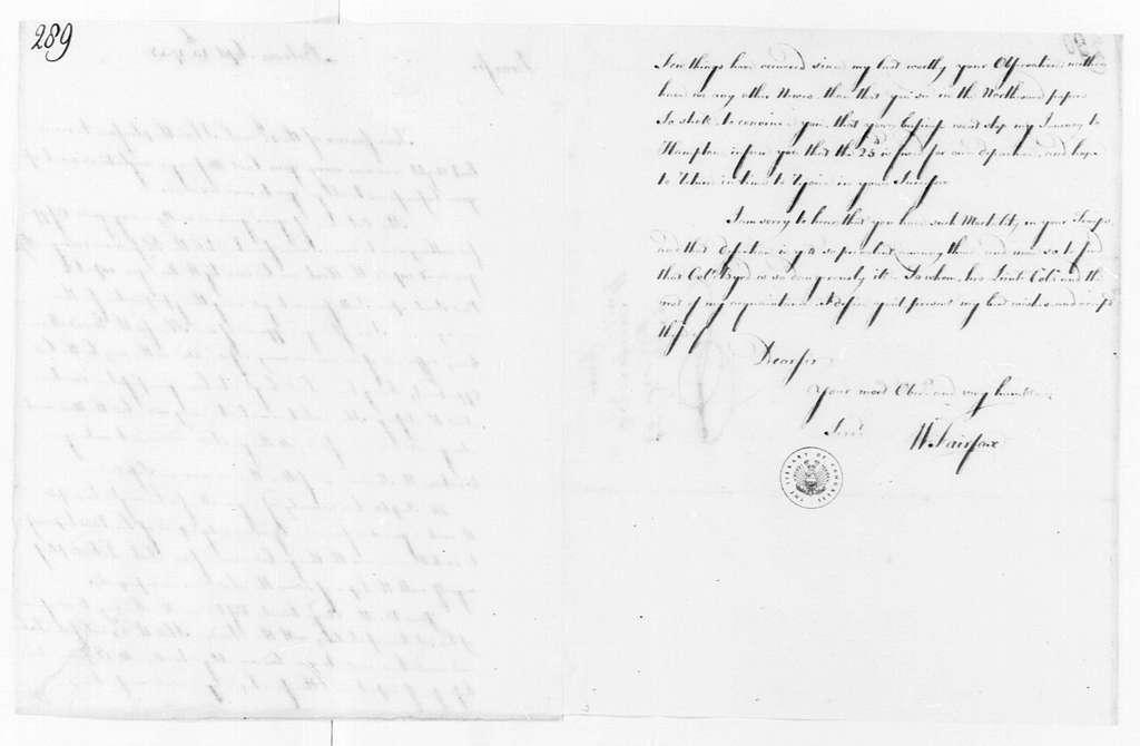 George Washington Papers, Series 4, General Correspondence: George William Fairfax to George Washington, September 15, 1758