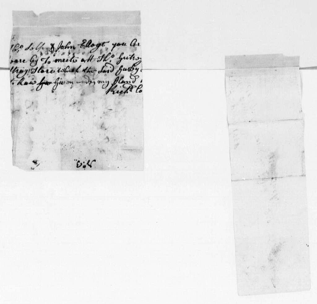 George Washington Papers, Series 4, General Correspondence: Richard Coleman to John King, April 28, 1758, Bill
