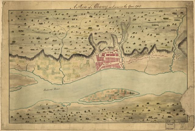A Plan of Albany, as it was in the year 1758.