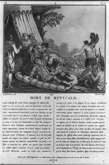 Mort de Montcalm / Desfontaines, del; Moret, sculp.