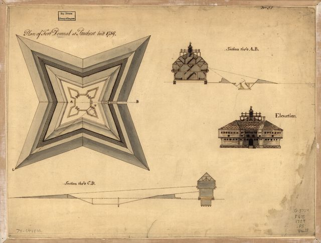 Plan of Fort Pownal at Penobscot built 1759.