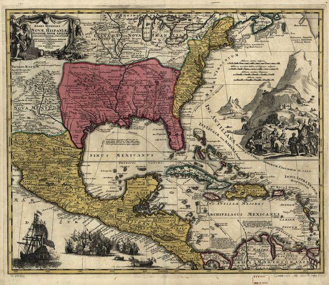 Regni Mexicani seu Novæ Hispaniæ, Floridæ, Novæ Angliæ, Carolinæ, Virginiæ, et Pennsylvaniæ, nec non insvlarvm archipelagi Mexicani in America septentrionali