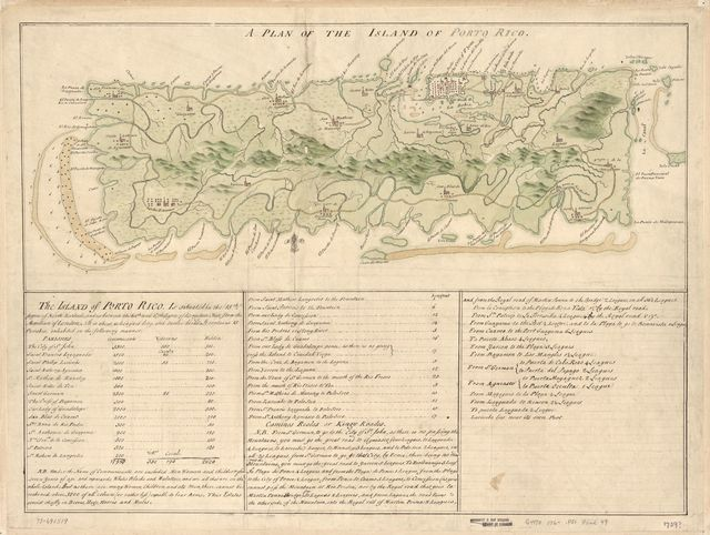 A Plan of the island of Porto Rico.