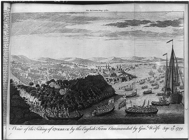 A View of the taking of Quebeck by the English forces commanded by Gen. Wolfe, Sep: 13th, 1759