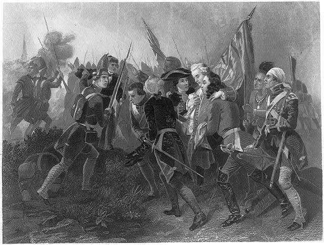 James Wolfe, 1727-1759 - being carried from battlefield