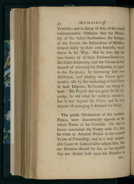 Memoirs of the revolution in Bengal, anno Dom. 1757 : by which Meer Jaffeir was raised to the government of that province, together with those of Babar and Orixa, including the motives to this enterprize, the method in which it was accomplished, and the benefits that have accrued from thence to that country, our United Company trading to the East Indies, and to the British nation.