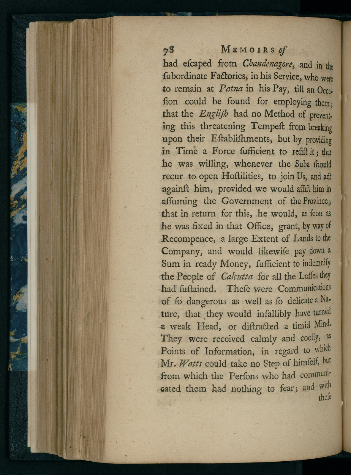 Memoirs of the revolution in Bengal, anno Dom  1757 : by