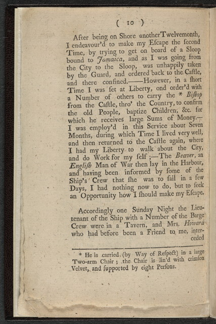 Narrative of the uncommon sufferings, and surprizing deliverance of Briton Hammon, a negro man... servant to General Winslow, of Marshfield, in New