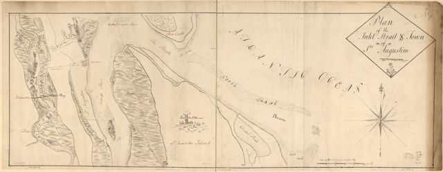 Plan of the inlet, strait, & town of St. Augustine.