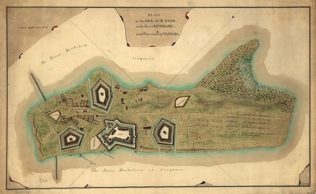 Plan of the Isle aux Noix, in the River Richelieu, and Province of Canada.