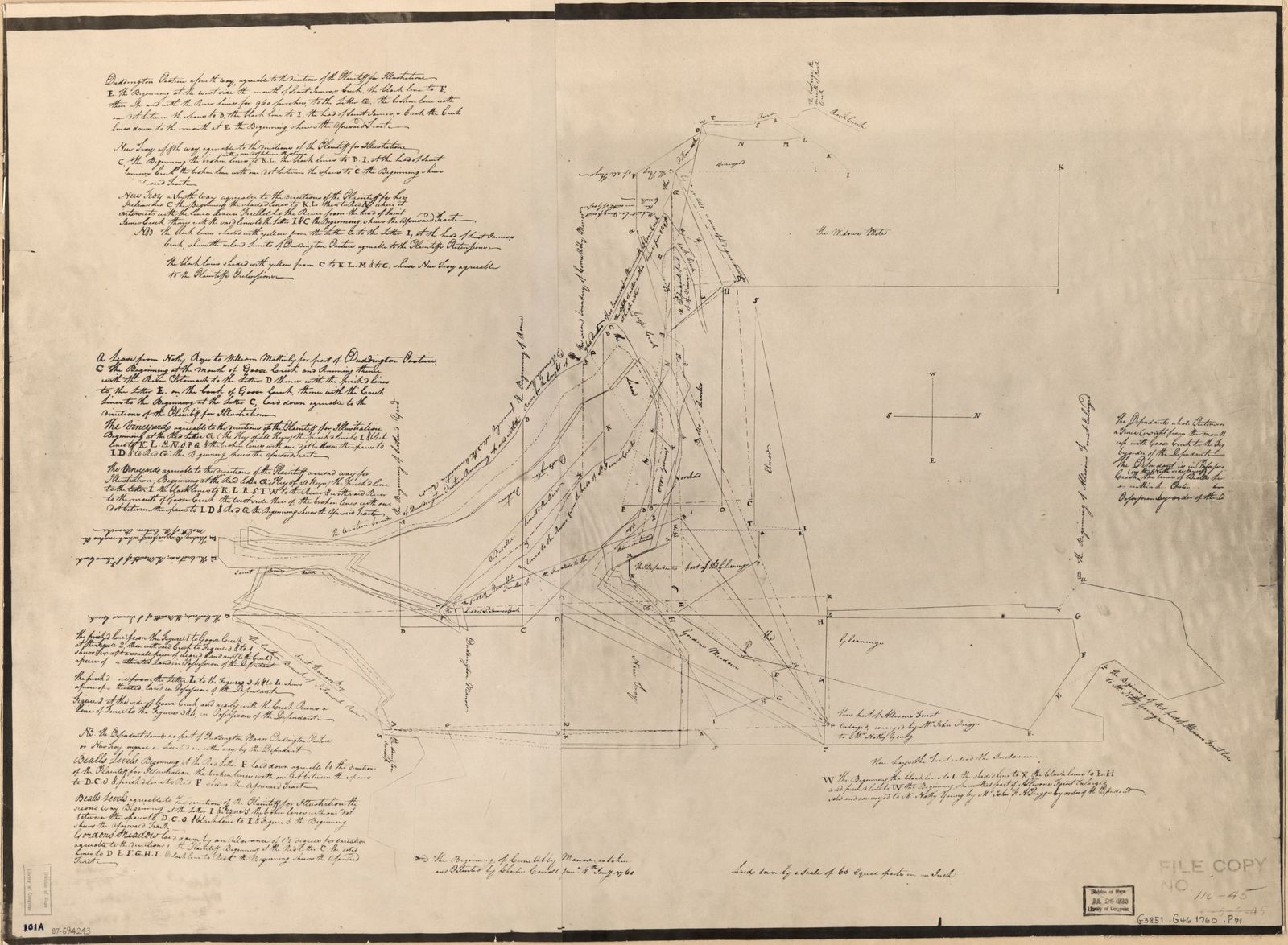 [Property survey of that part of Prince Georges County, Maryland, later to become central Washington D.C.].