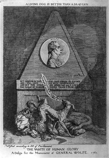 The vanity of human glory. A design for the monument of General Wolfe