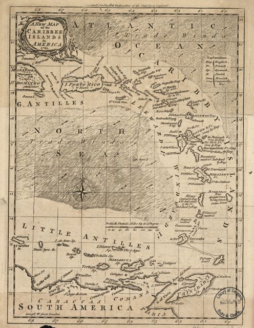 A new map of the Caribbee Islands in America /