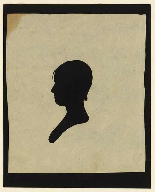 [Silhouette of girl facing left, no. 2]