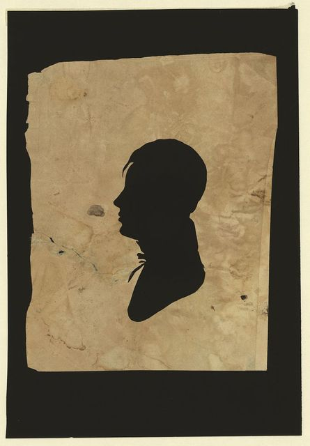 [Silhouette of man facing left, no. 12]
