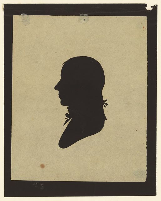 [Silhouette of man facing left, no. 2]