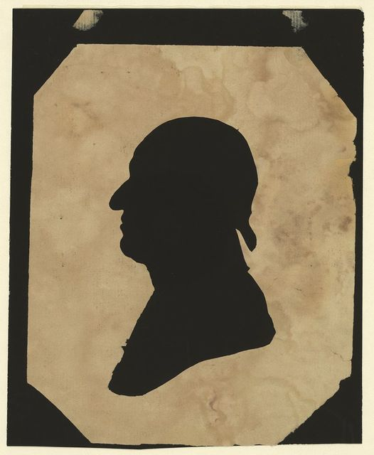 [Silhouette of man facing left, no. 8]