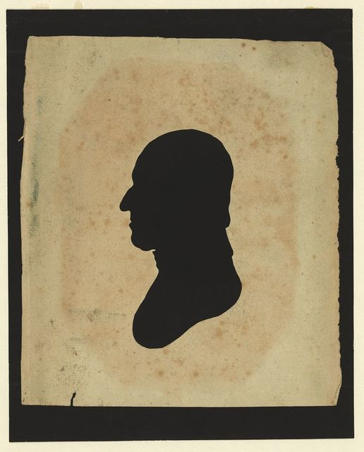 [Silhouette of man facing left, no. 9]