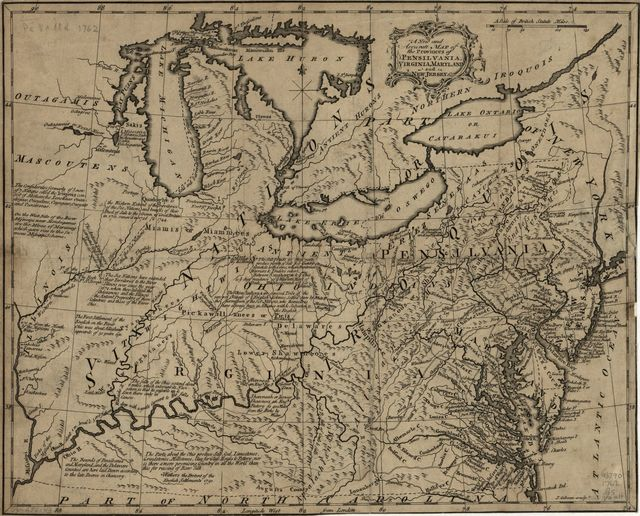 A new and accurate map of the provinces of Pensilvania, Virginia, Maryland and New Jersey.