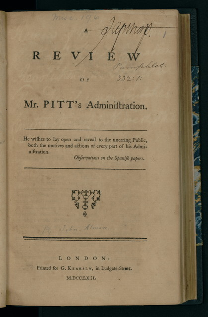 A review of Mr. Pitts administration.