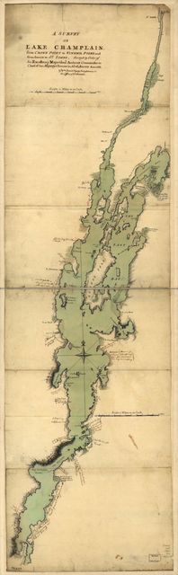 A survey of Lake Champlain, from Crown Point to Windmil Point, and from thence to St. Iohns.