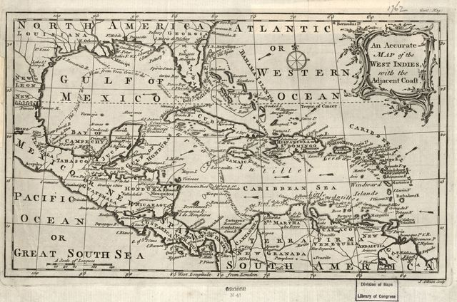 An accurate map of the West Indies with the adjacent coast /
