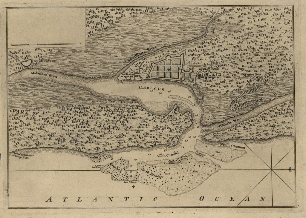 [Plan of the town and harbour of St. Augustine.