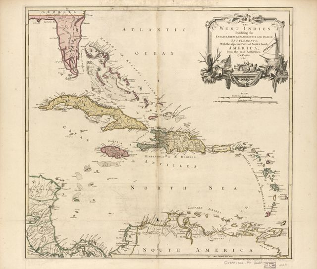The West Indies exhibiting the English, French, Spanish, Dutch, and Danish settlements, with the adjacent parts of North & South America, from the best authorities,