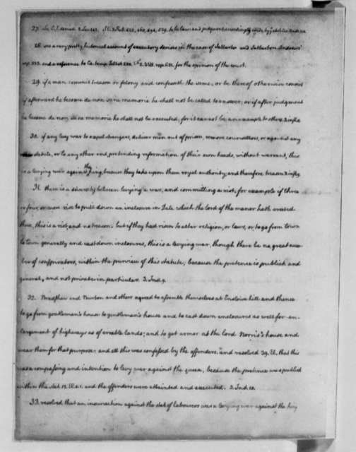 Thomas Jefferson, 1762-1767, Legal Commonplace Book