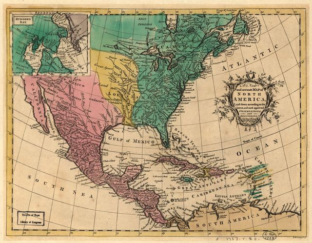A new and accurate map of North America, laid down according to the latest, and most approved observations and discoveries.