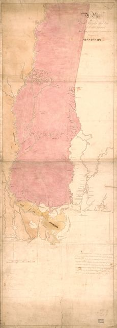 A Plan of West Florida, the Isle of Orleans, and some parts of the Spanish dominions to the westward of the Mississipi.