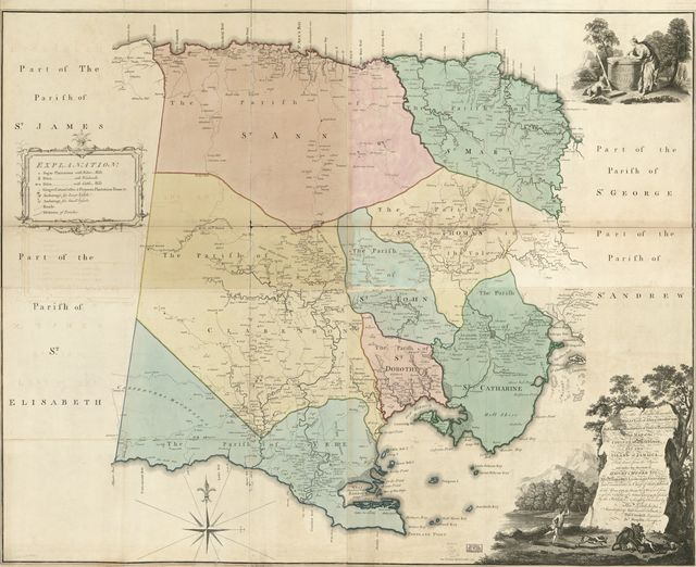 This map of the county of Middlesex in the island of Jamaica /