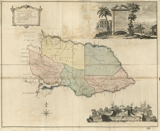 This map of the county of Surry [sic] in the island of Jamaica /