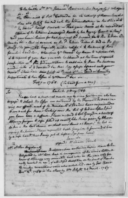 Vandalia Land Company, 1763-82, Collection of Documents from John Cox