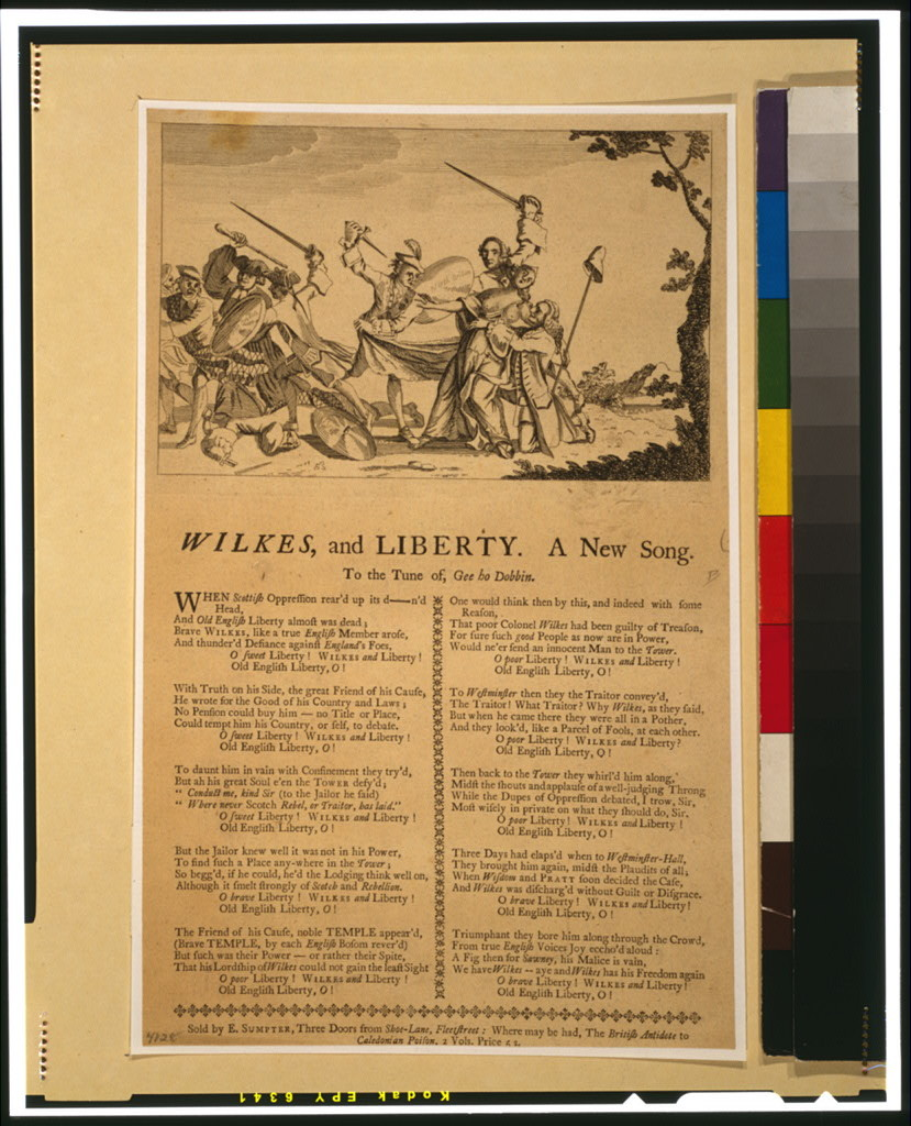 Wilkes, and Liberty--A New Song