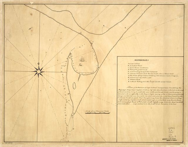 A plan of the harbour of Cape Lookout surveyed and sounded by His Majesty's sloop Viper,