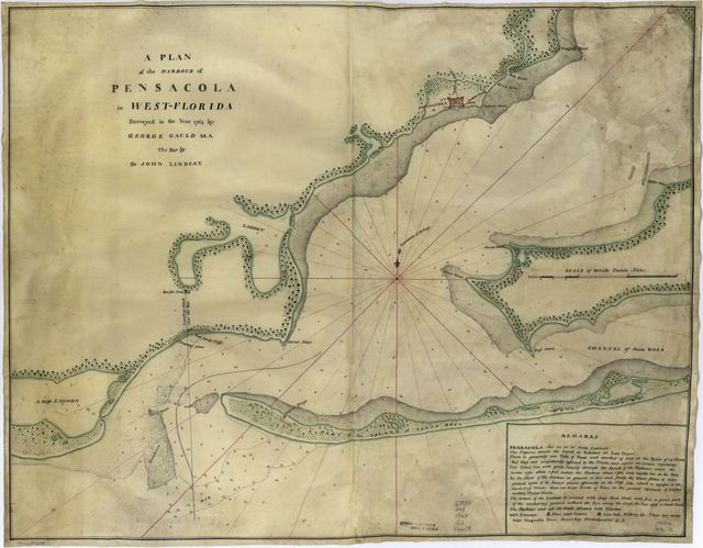 A plan of the harbour of Pensacola in West-Florida.