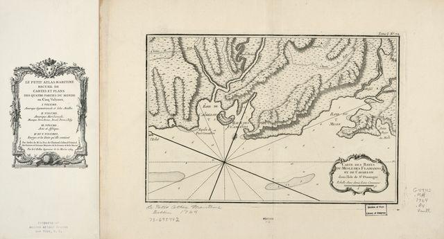 Carte des bayes du Mesle, des Flamands, et de Cavaillon dans l'isle de St. Domingue.
