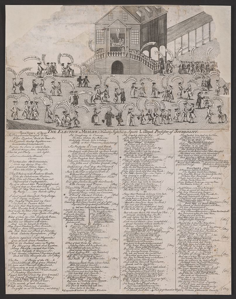 The election, a medley, humbly inscribed to Squire Lilliput, professor of scurrility