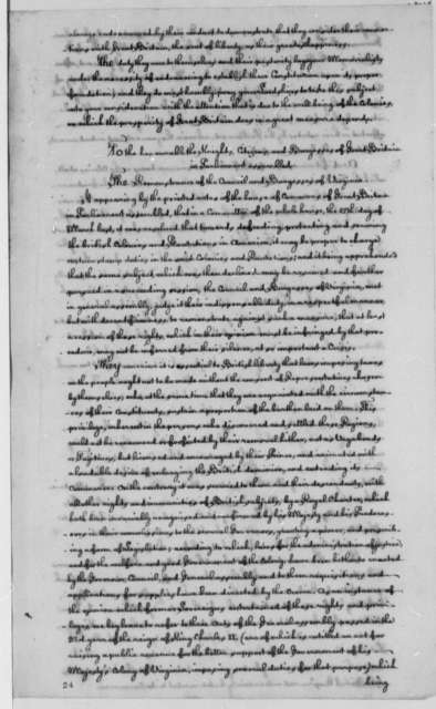 Virginia Council and Burgesses to Virginia Governor, December 18, 1764, Colonial Relations with Great Britain