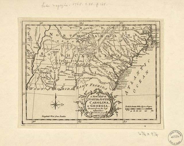 A new map of North & South Carolina, & Georgia /
