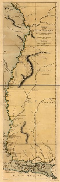 Course of the river Mississippi, from the Balise to Fort Chartres; taken on an expedition to the Illinois, in the latter end of the year 1765.