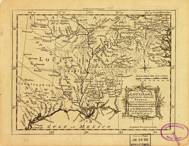 Louisiana, as formerly claimed by France, now containing part of British America to the east & Spanish America to the west of the Mississippi.