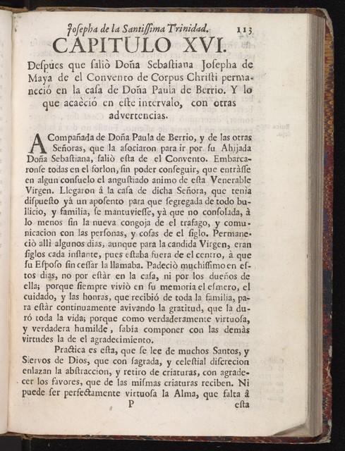 Vida admirable, y penitente de la v. m. sor Sebastiana Josepha de la SS. Trinidad ...