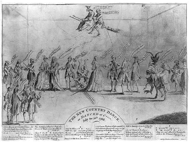 The new country dance, as danced at C****, July the 30th 1766
