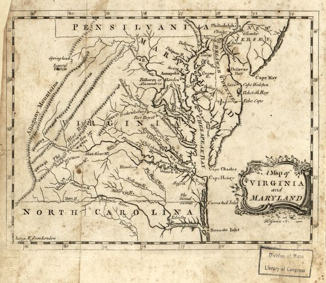 A map of Virginia and Maryland /