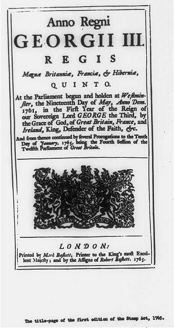 Beginning of text, illus. with royal seal, in Gt. Brit. Laws, statues, etc., 1760-1820 (George III), Anno regni Georgii III...At the Parliament begun and holden at Westminster, the nineteenth day of May, 1761..., London, M. Baskett, 1767