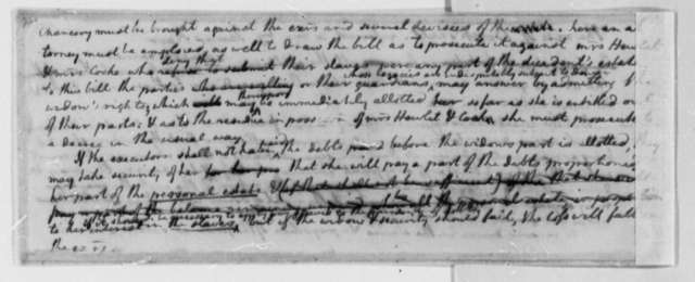 Thomas Jefferson, 1767-73, Notes on Birch Law Case; Referred by James Kerr