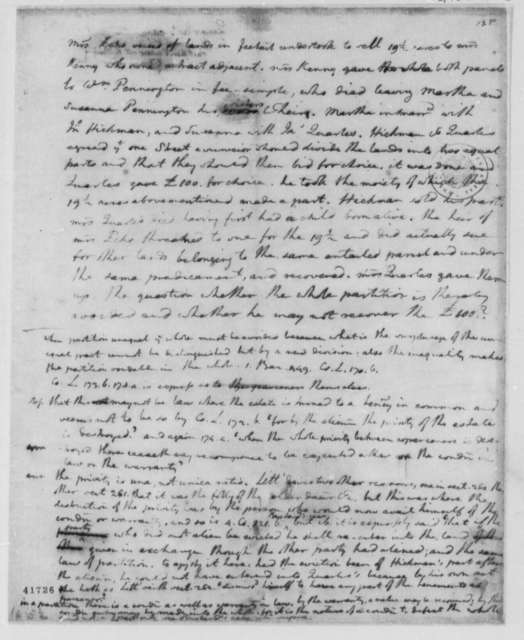 Thomas Jefferson, 1767-73, Opinion on J. Quarles Law Case Regarding William Kenney Estate